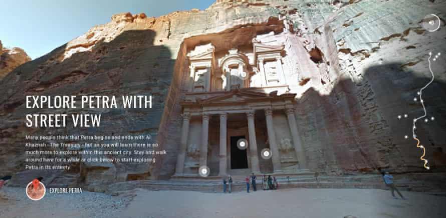 Screen Shot from Google Street View virtual tour of Petra, Jordan