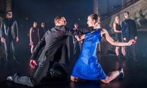 Jonathan Goddard as Macbeth and Eleanor Duval as Lady Macbeth in Mark Bruce's Macbeth at Wilton's Music Hall