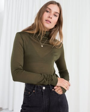 Long sleeve wool turtleneck, £35, & Other Stories.