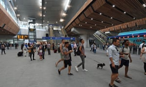 The new concourse at London Bridge station, which is in the process of a £1bn makeover. The hub is used by 56m passengers a year, but journeys to and from the station were beset by delays over the summer.