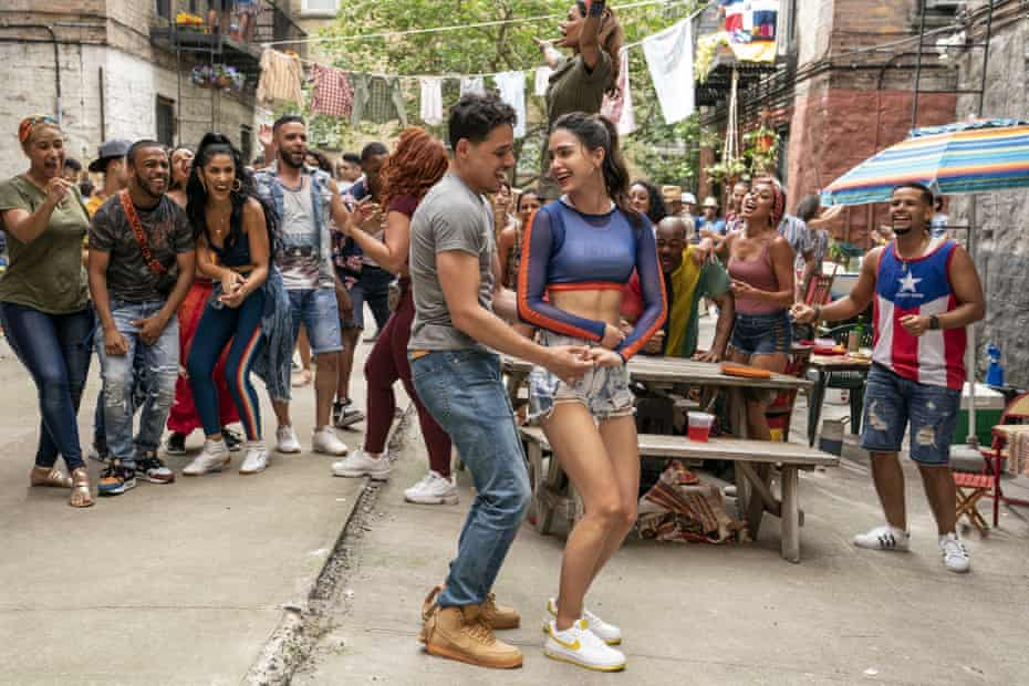 Anthony Ramos and Melissa Barrera in In the Heights.