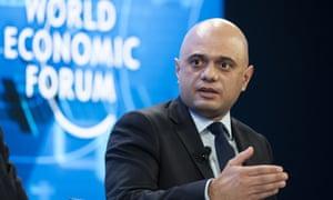 Sajid Javid  in Davos