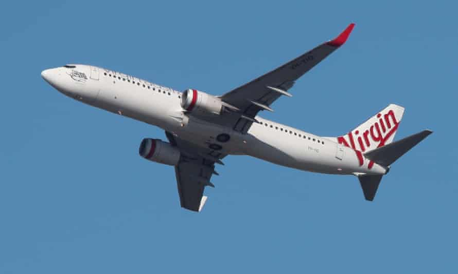 Virgin Australia plane takes off from Sydney airport