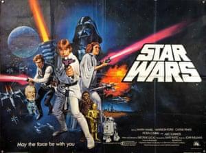 Star Wars, 1977. Artwork by Tom Chantrell.