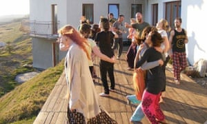 Breathwork event in Kikow, Poland