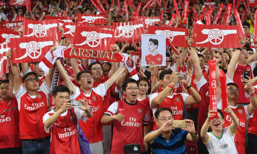 Arsenal fans go wild in Beijing as they get the rare chance to see their team play live, against Chelsea in a 2017 pre-season tour game