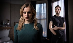 A one-night stand with dire consequences … Denise Gough and Tom Hughes in Paula.