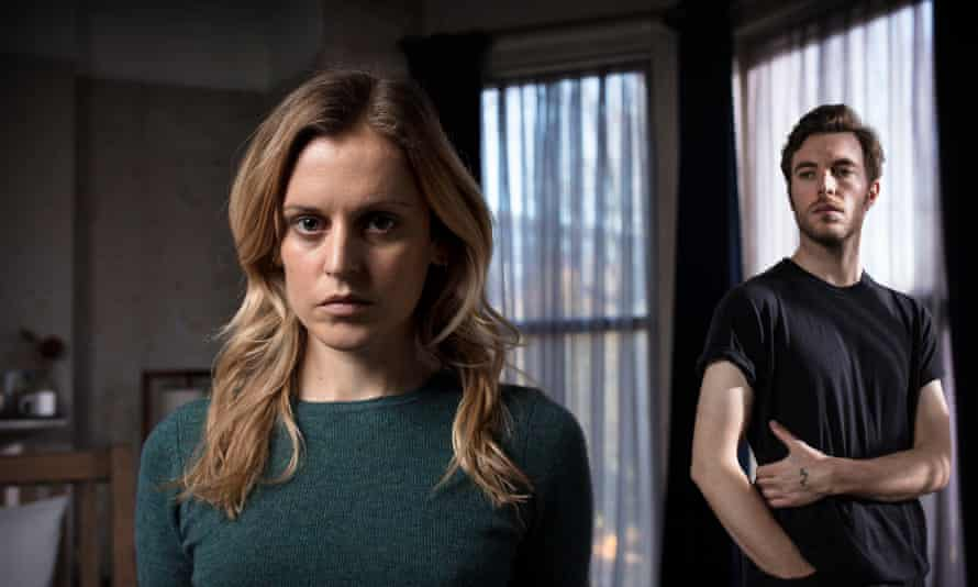 Feeling A Bit Bad again … Denise Gough as Paula and Tom Hughes as James. Photograph: Sophie Mutevelian/BBC