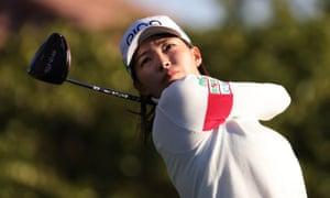 Hinako Shibuno battled to keep her lead on Saturday in Texas
