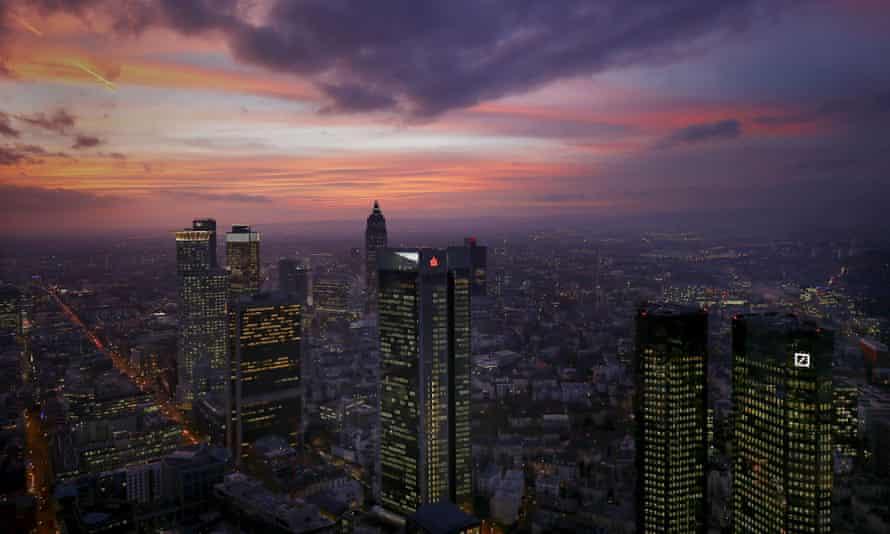 Frankfurt's financial district, Germany