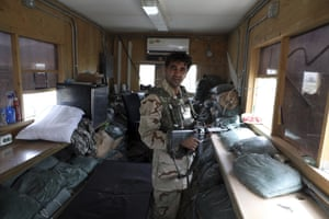 Afghan security forces in the base following the US departure.