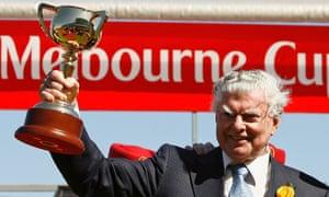 Australian racehorse trainer Bart Cummings.