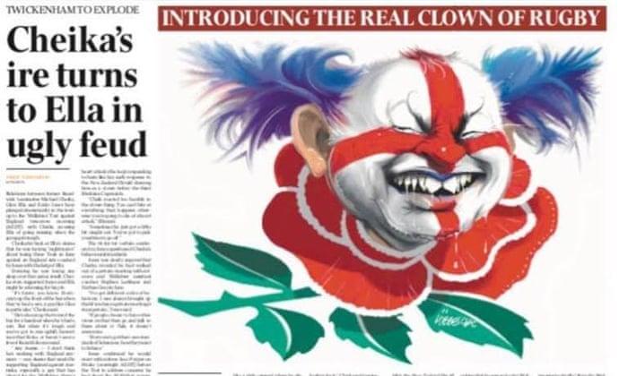Eddie Jones pilkasi Australian sanomalehden sotaa