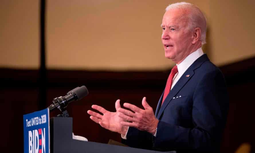 Joe Biden speaks in Philadelphia, Pennsylvania, on 2 June.