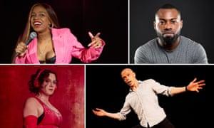 Edinburgh comedians, clockwise from top left: London Hughes, Darren Harriott, Jordan Brookes and Jessica Fostekew.