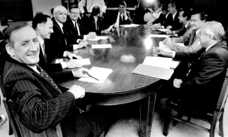 Tim Fisher and his National party team, 23 March 1993