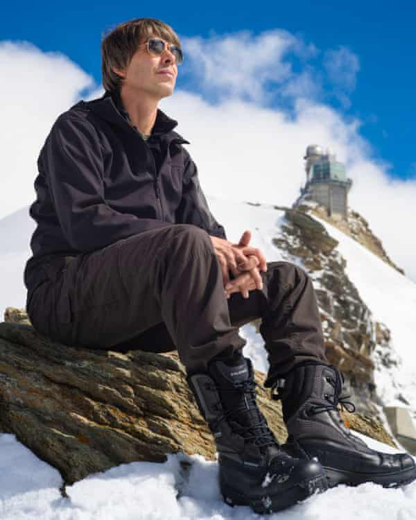 Brian Cox at the Sphynx Observatory in Switzerland while making Forces of Nature