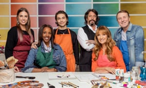 From left… Amber Le Bon, Josie d'Arby, George Shelley, Laurence Llewelyn-Bowen, Jane Seymour and Phil Tufnell.