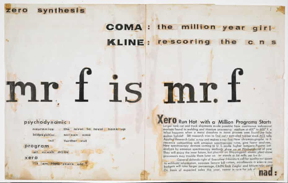 'mr. f is mr. f' billboard from the 1958 Project for a New Novel series by J. G. Ballard © J. G. Ballard. Reproduced by permission of the J. G. Ballard Estate. See more at The British Library.