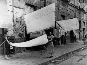 Wash day in Naples, 1956