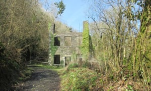 The ruined paper mill at Danescoombe