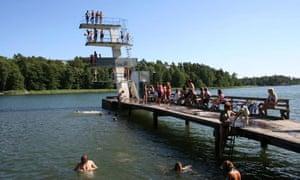 Swimming at Nordic Camping Nickstabadet