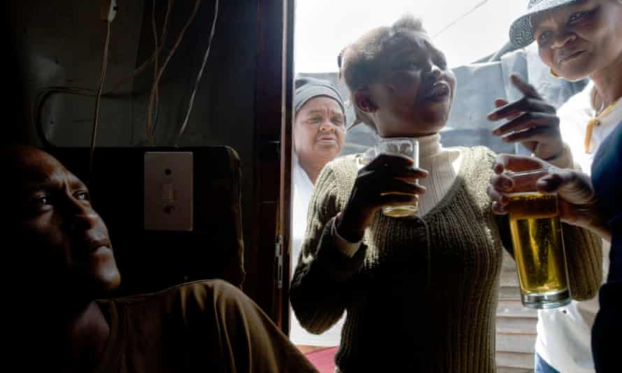 A shebeen, or illegal tavern, in Gugulethu, a troubled township outside Cape Town.