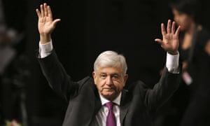 Andrés Manuel López Obrador in Mexico City Monday.