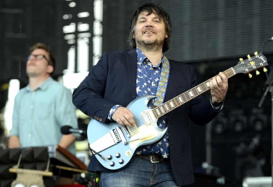 Jeff Tweedy on stage with Wilco at the 2013 Bonnaroo festival in Manchester, Tennessee