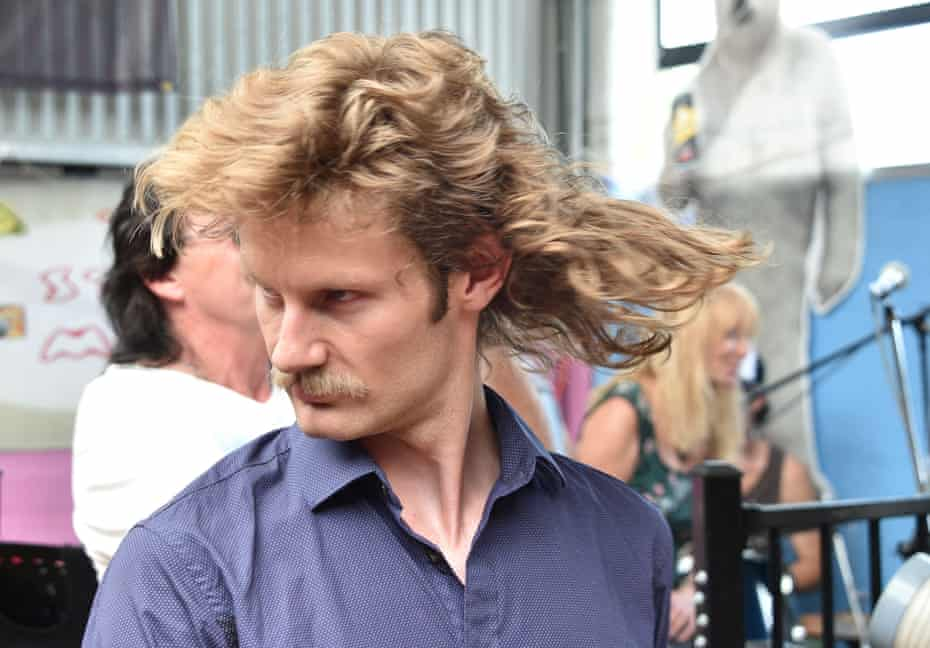 One contestant and his crowning glory at Mulletfest