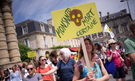 A march against the powerful agrochemical company Monsanto in Bordeaux, France, on 19 May.