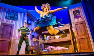 Greg Tannahill as Jonathan and Charlie Russell as Sandra in Peter Pan Goes Wrong.