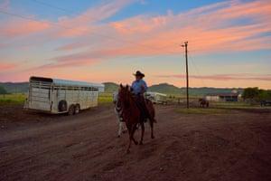 Matt Henry photograph of a man on horseback