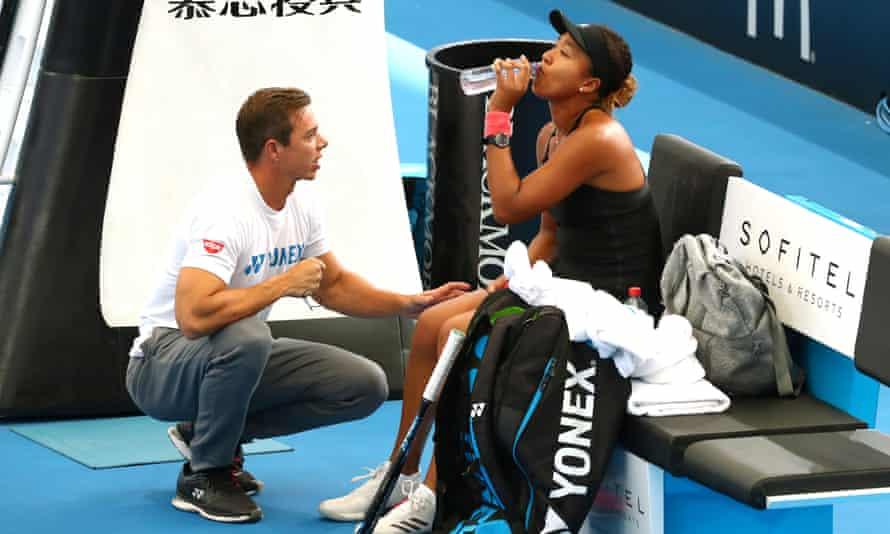 Naomi Osaka with coach Sascha Bajin