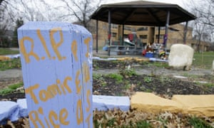 Tamir Rice is remembered on Tuesday at the Cudell Recreation Center in Cleveland where he was shot dead in November 2014.