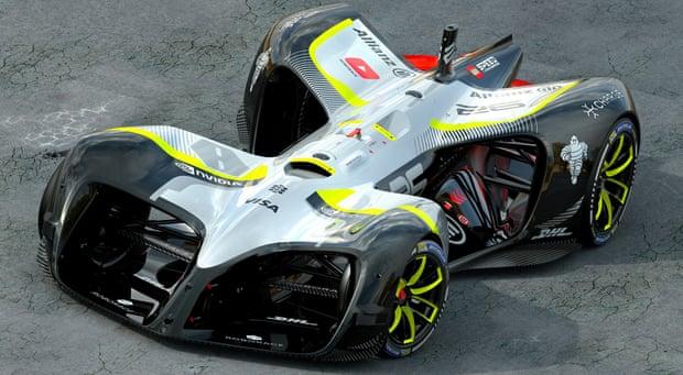A Roborace car, image courtesy of Chief Design Officer Daniel Simon.