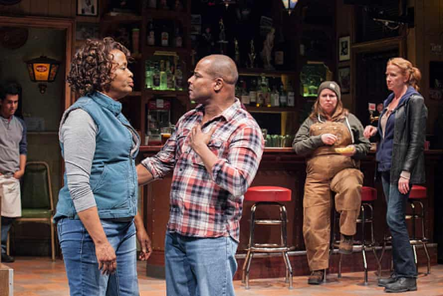 At the end of their rope: Reza Salazar, Kimberly Scott, Tara Mallen and Johanna Day in Sweat.