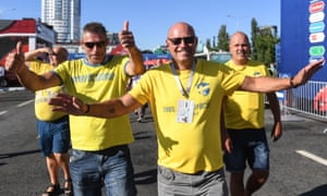 Sweden fans at the 2018 World Cup