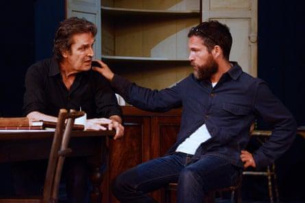 rehearsing Chekhov's Uncle Vanya at Theatre Royal Bath with John Light.