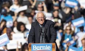 Sanders spoke at a a rally in New York last weekend.