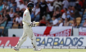 Moeen Ali departs after being dismissed first ball