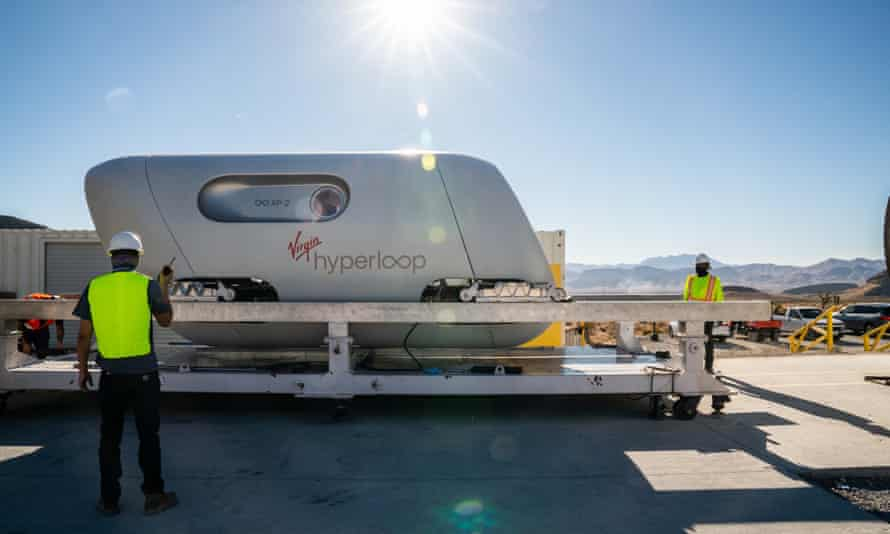 Virgin Hyperloop completes first test run with passengers in Nevada