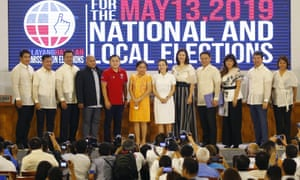 Newly elected senators in Philippines