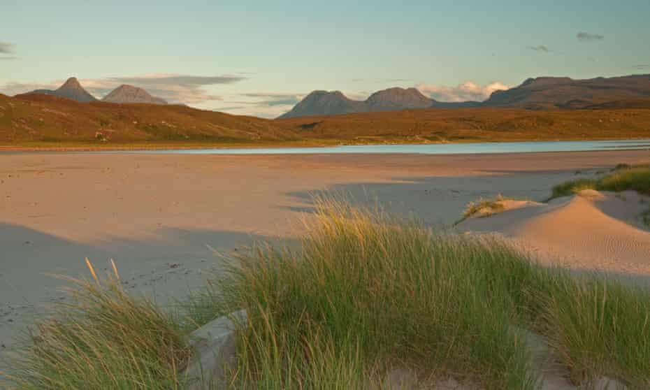 Evening sunlight over Achnahaird Bay, Wester Ross.
