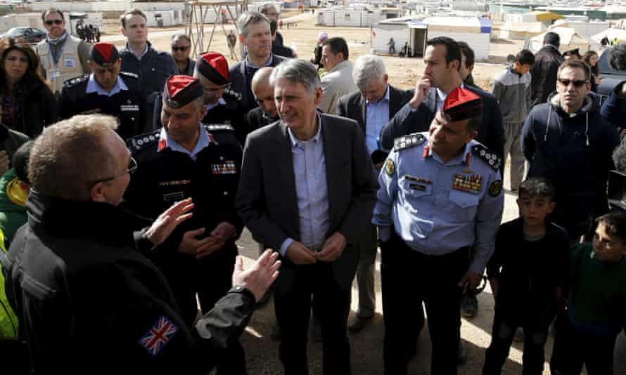 Philip Hammond in Mafraq, Jordan