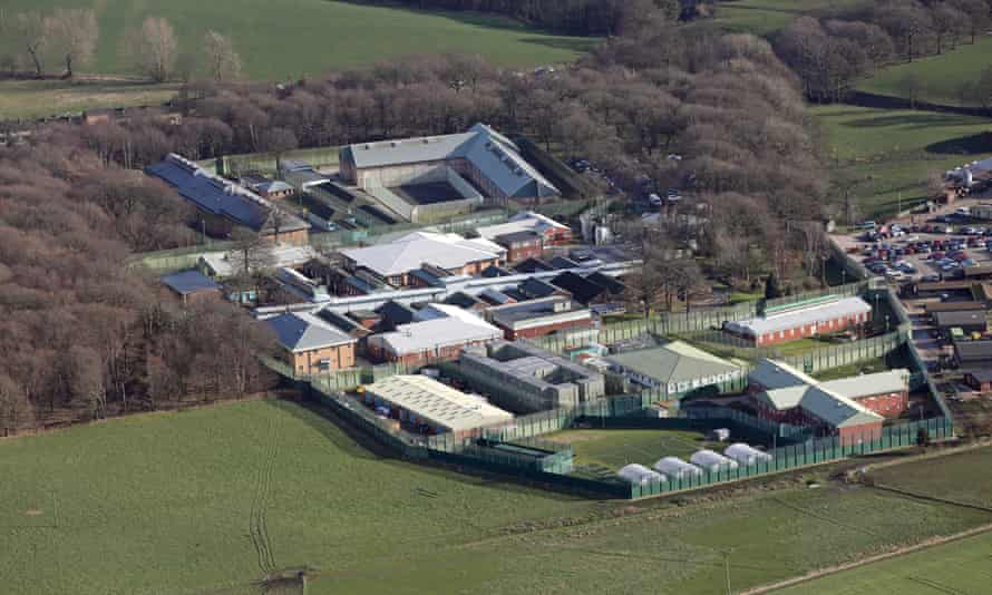 Aerial view of HMP New Hall, Wakefield, West Yorkshire