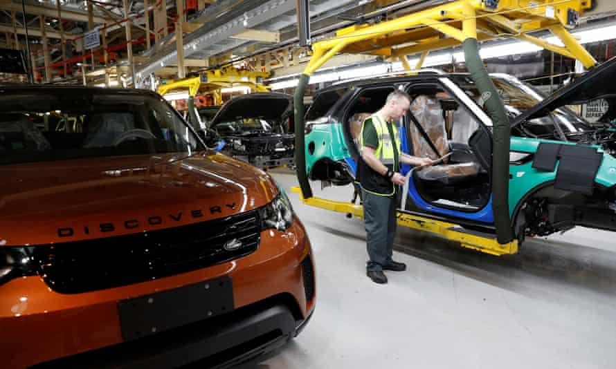 A vehicle at Jaguar Land Rover's facility in Solihull destined for China.