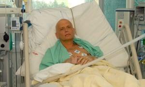 Alexander Litvinenko in the intensive care unit of University College Hospital, London, on November 20, 2006.