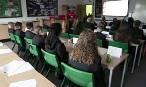 Students at a school in Manchester.