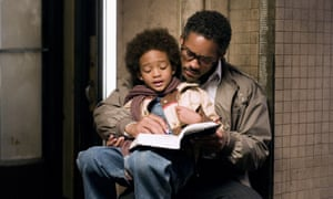 The act of giving: Will Smith with Jaden Smith in The Pursuit of Happyness (2006).